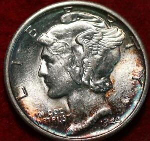 Uncirculated 1944-S San Francisco Mint Silver  Mercury Dime Toned