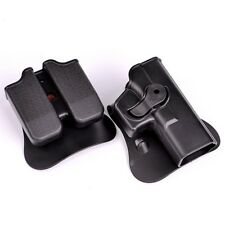 For Glock 17 19 Model IMI Belt Holster Double Mag Pouches Tactical Combat CS