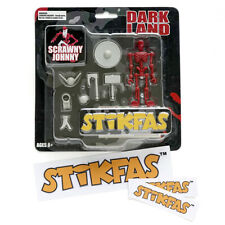 Vintage Stikfas Action Figure Dark Land  Scrawny Johnny AFB008A + Stickers