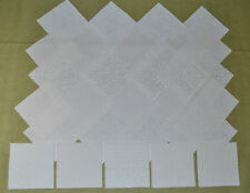 WHITE TONE ON TONE VARIETY PACK COMBO 6 Inch Quilt Squares (30)