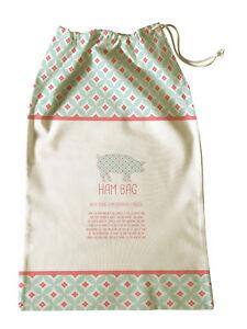 100% Genuine! AVANTI Ham Bag 65 x 40cm Cotton Keep Your Ham Fresher for Longer!