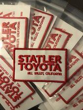 Statler Toyota Logo Patch Limited Edition  1 of 200 Moral Patch Hook Back