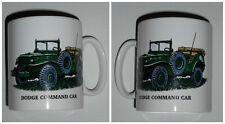 Boxed Dodge Command Car Mug, Vintage Military Vehicle,1/2 pint Stoneware mug