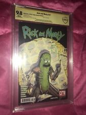 Rick And Morty 37 X-Men 141 Swipe CBCS 9.8 Personal Collection Of Mike Vasquez