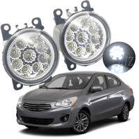 For 2012-2020 Mitsubishi Attrage Mirage G4 Sedan 2PCS LED Fog Light Driving Lamp