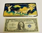 Vintage Etched Memory of Japan & Korea Cigarette Case. As Found.