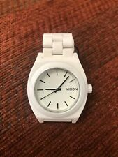 Nixon A250 100-00 Ladies White Ceramic Time Teller Watch 6'' no extra link