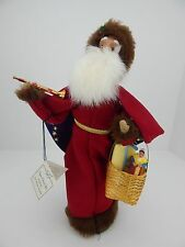 Byers Choice 2003 Le Pere Noel Santa w/ Basket Has Hang Tag Very Good Condition