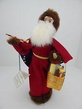 Byers Choice 2003 Le Pere Noel Santa w/ Basket Has Hang Tag Very Good Condition
