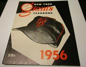 1956 NEW YORK GIANTS MLB YEARBOOK WILLIE MAYS CANDLESTICK PARK HOYT WILHELM HOF