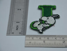 "LETTER J SNOOPY ALPHABET 1 1/2"" 4cm Sew Iron on Cloth Patch Applique Embroidery"