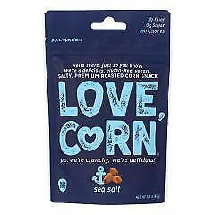 Love Corn Premium Crunchy Corn Snack - Case of 12 - 4 OZ