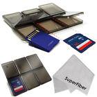 6 Slot Pocket Memory Card Storage Case Transparent Holder SD SDHC MMC MicroSD