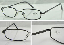L61 Superb Quality Metal Reading Glasses & Spring Hinges & Classic Robust Style