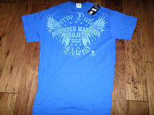 U.S MILITARY WOUNDED WARRIOR PROJECT T-SHIRT BLUE X-LARGE