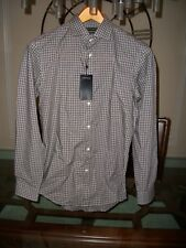 used RALPH LAUREN BLACK LABEL grey l/s cotton shirt size 16 tailored fit $350
