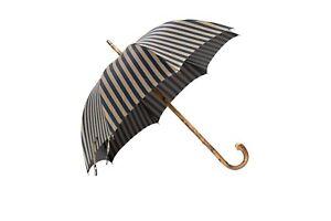 MARIO TALARICO NAPOLI Regimental Umbrella Handmade Chestnut Debarked OnePiece +