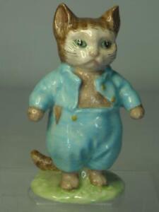 1948-1980 Beswick TOM KITTEN Figurine BP3b Deep Blue Outfit Beatrix Potter