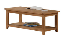 Stirling Coffee Table in Solid Oak and Oak Veneers Free Delivery