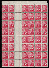 1951 KING GEORGE VI 3d GUTTER BLOCK 48 PRE-DECIMAL STAMPS WITH PERF PIP MUH #G13