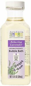 Aura Cacia Aromatherapy Bubble Bath Relaxing Lavender 13 fl oz (Pack of 3)