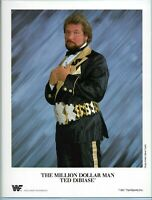 WWE TED DIBIASE OFFICIAL LICENSED AUTHENTIC 8.5X11 ORIGINAL PROMO PHOTO 1991