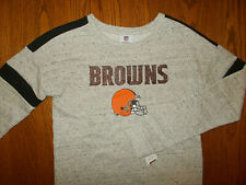 NWT NFL TEAM APPAREL CLEVELAND BROWNS CREW SWEATSHIRT GIRLS XL 14-16