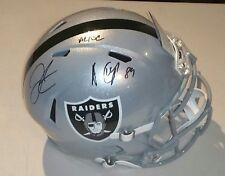 New listing Amari Cooper AC/DC Derek Carr Signed Raiders Speed Full Sz Helmet w/Beckett COA