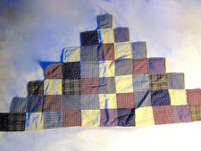 Estate vtg 60s-70s Quilted WALL HANGING or TABLE RUNNER Pyramid Squares Handmade