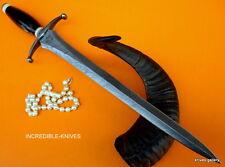 CUSTOM DAMASCUS STEEL HUNTING KNIFE BOWIE / SWORD ARKANSAS TOOTHPICK DAGGER NEW