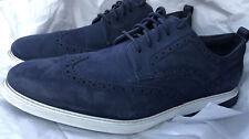 cole haan mens Grand Evolution Wingtip Derby Sneaker Size 13 M Blue Suede