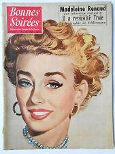 ► BONNES SOIREES 1741 du 19 Juin 1955 - MADELAINE RENAUD - HENRI SCHLIEMANN
