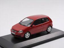 RARE VW POLO 9N3 VI 2005 SPORT TDI FACELIFT RED 1:43 MINICHAMPS (DEALER MODEL)