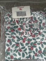 Longaberger Evergreen Basket TRADITIONAL HOLLY Liner Fabric OTE NEW Christmas
