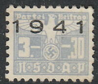 Stamp Germany Revenue WWII 3rd Reich War War Era Labor 1941 B 3 30 Used