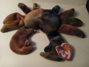 TY Original Beanie Baby CLAUDE the CRAB With Swing Tag 1996 tush tag Vintage