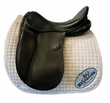 "HOLD: Used Stubben Genesis Dressage Saddle with Biomex Seat - Size: 18"" - Black"