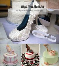 TANGCHU DIY 3D Silicone High Heel Shoes Mold Set Cake Decorating Tool