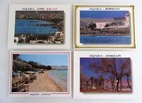 Postkarten Lot JORDAN Jordanien 4 x Postcard AQABA Ansichtskarten ungelaufen