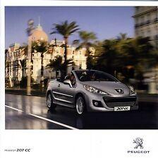 Peugeot 207 CC 01 / 2012 catalogue brochure  Autriche