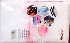 Paquet de 2 Filet Lavage ZIP Lessive Linge 40 x 50 cm & 50 x 60 cm machine