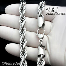 """33""""MEN's Stainless Steel HEAVY WIDE 8mm Silver Smooth Rope Chain Necklace*N149"""