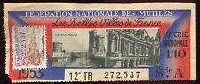BILLET LOTERIE VILLE DE FRANCE LA ROCHELLE