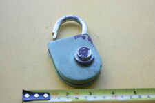 VINTAGE COMBINATION BICYCLE PADLOCK RARE UNUSUAL MYSTERY HOW IT WORKS ??????????
