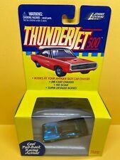 Johnny Lightning Thunderjet 500 Pull Back Ho Scale Dodge Charger - Blue CHROME