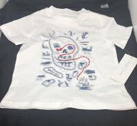 NWT Ralph Lauren Baby Boy Cotton Jersey Graphic Tee Shirt White 12 Month