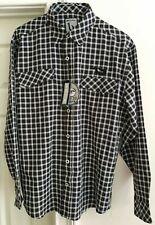 Mojo Sportswear Playa Collection Men's Long Sleeve Black Plaid Shirt - XL - NWT