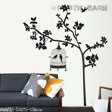 ALBERO ARTISTICO & Bird Cage Silhouette Home Decoration Wall Sticker Art Decalcomania UK