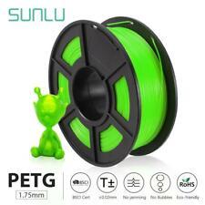 Sunlu PETG filamento de impresora 3D 1.75mm 1KG/2.2LB Impresora material 100% Carrete Pet