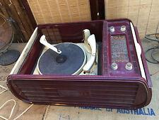 Vintage Australian Duplex Kriesler Radiogram Record Player Valve Radio